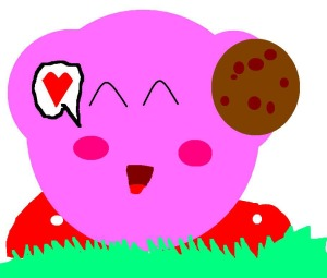 Kirby with a Cookie