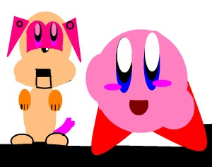 Kirby with a dog