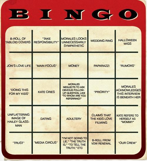 Human Bingo Board